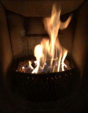 Flamme ca 1 Std nach Zündung