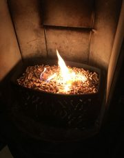 Flamme ca 5min nach Zündung