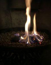 Flamme ca. 30min nach Zündung
